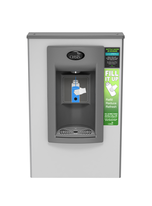 Oasis PWSMEBFY Aqua Pointe Hands-free Surface Mount Non-Refrigerated Bottle Filler with Counter
