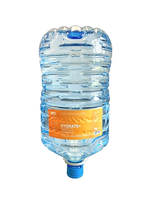 WATER COOLER REFILL - BOTTLE OF PURE SPRING WATER FOR WATER DISPENSERS - 15 LITRE