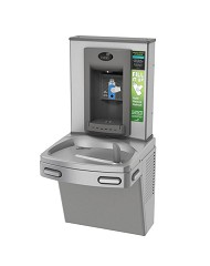 Oasis PEBFY Hands-free Bottle Filler + Non-refrigerated VersaCooler with Counter